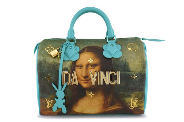 Rare Louis Vuitton Speedy 30 'Masters' Da Vinci Mona Lisa Jeff Koons Bag