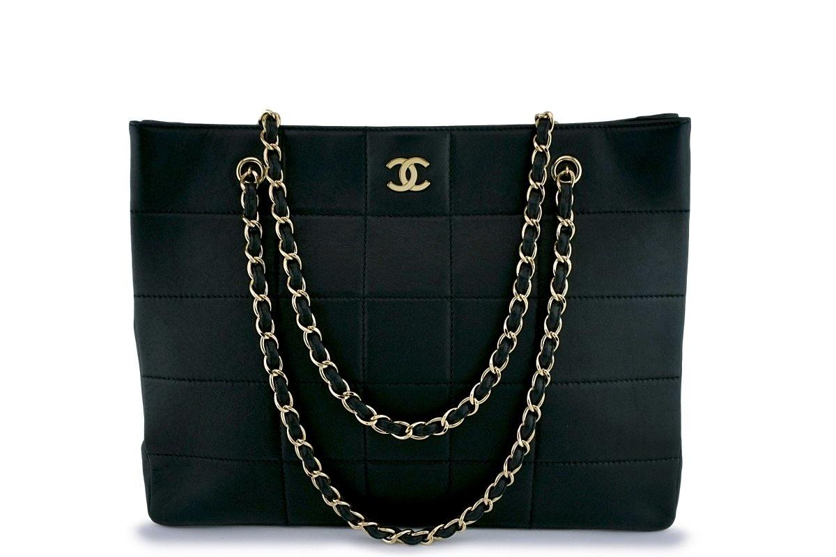 Chanel Black Large Classic Quilted Shopper Tote Bag GHW