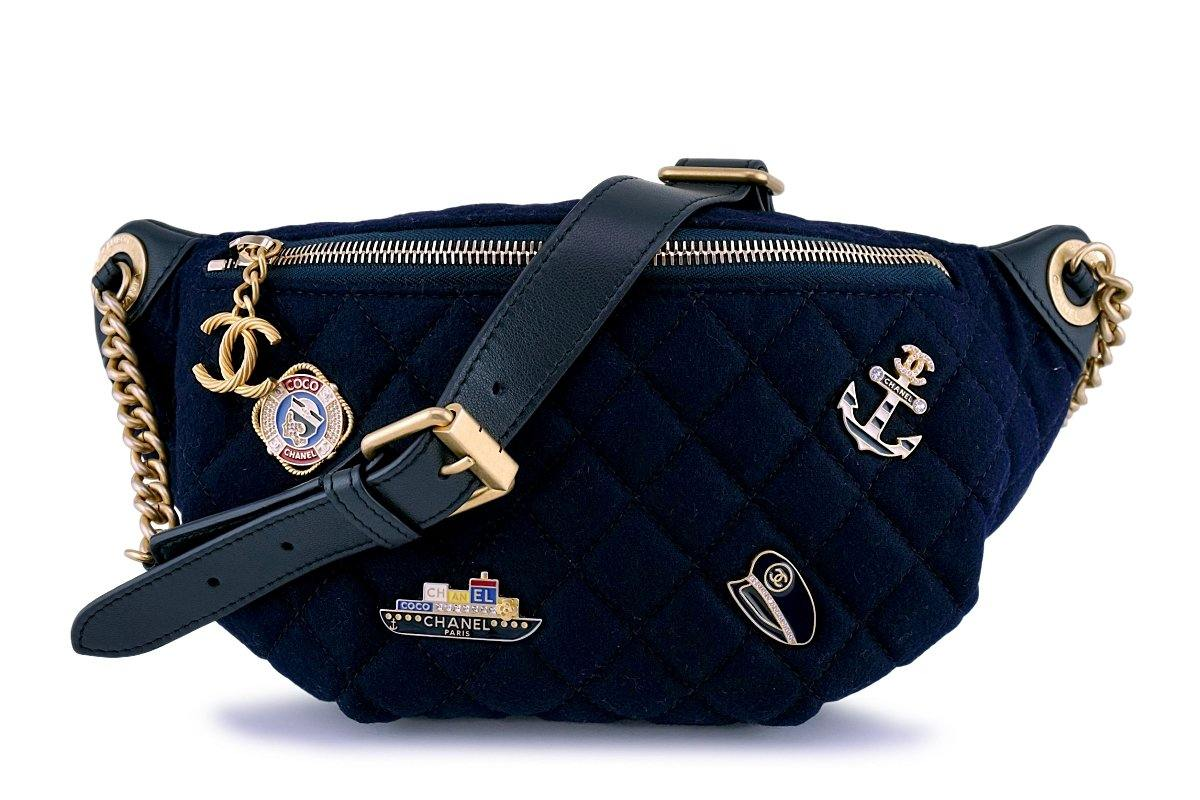 New Chanel 18A Paris-Hamburg Charms Fanny Pack Waist Bag - Boutique Patina