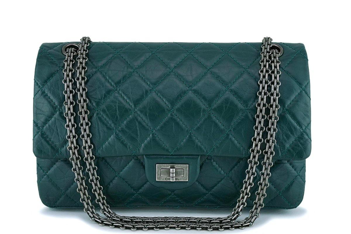46074ee5eafe Chanel Emerald Green 226 Medium 2.55 Reissue Classic Flap Bag ...