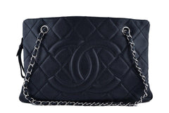 Chanel Black Caviar Quilted Timeless Grand Shopping Tote GST Bag