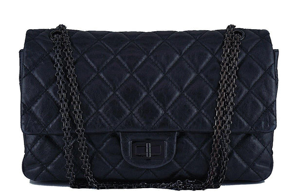 Chanel So Black 12in. 227 Reissue 2.55 Jumbo Classic Double Flap Bag