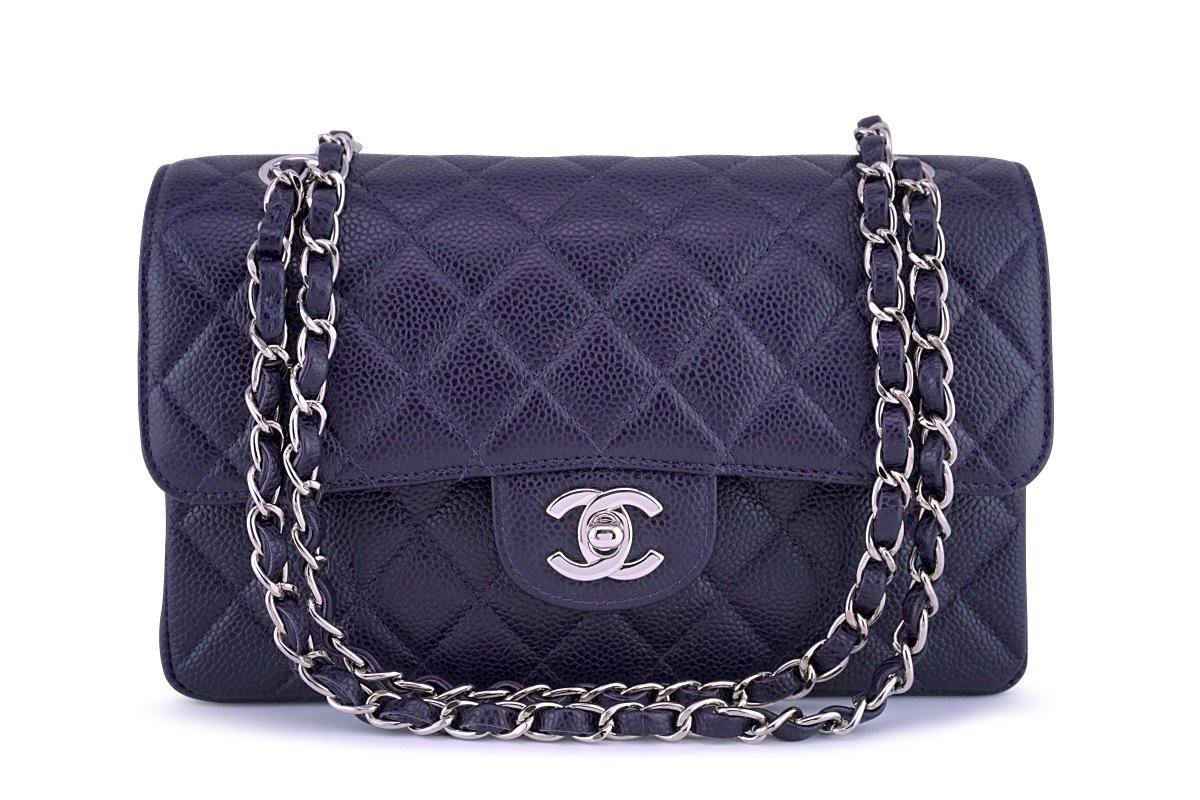 b81a49aaf69c Chanel Raisin Purple Caviar Small Classic 2.55 Double Flap Bag SHW