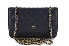 Chanel Black Caviar Classic Quilted WOC Wallet on Chain Flap Bag - Boutique Patina  - 1
