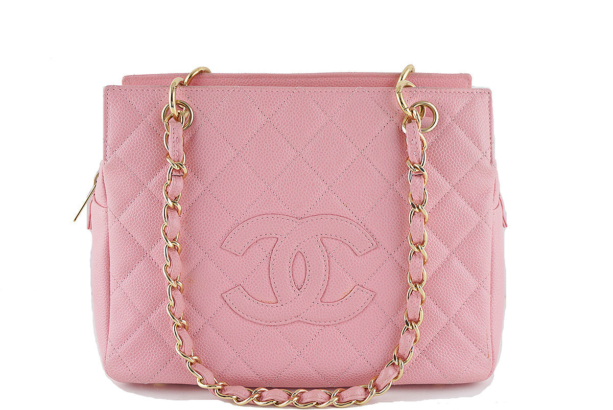 Chanel Pink Caviar Quilted Timeless Shopper Tote Bag