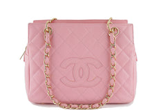 Chanel Pink Caviar Quilted Timeless Shopper Tote Bag - Boutique Patina  - 1