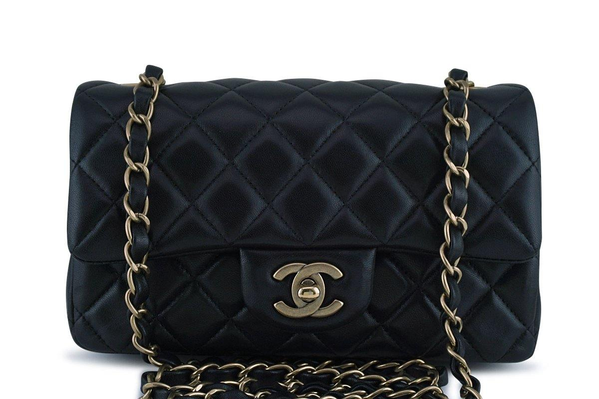 Chanel Black Classic Quilted Rectangular Mini 2.55 Flap Bag
