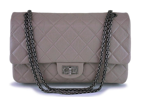 Chanel Taupe Gray-Beige Large 227 Reissue Classic 2.55 Flap Bag RHW
