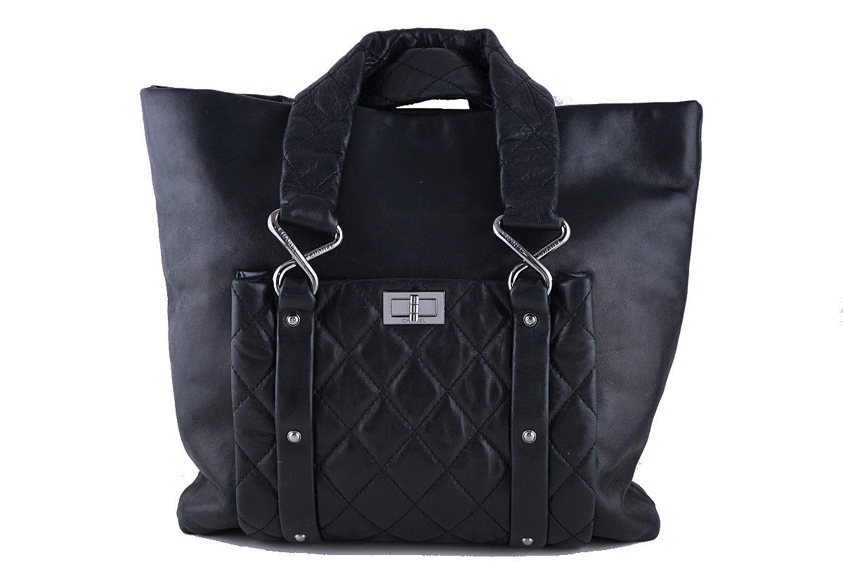 Chanel Ultrasoft Black Lambskin 8 Knots Reissue Lock Tote Bag