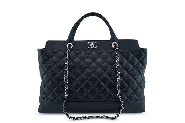 Chanel Black XL Quilted Classic Executive 2-way Tote Bag