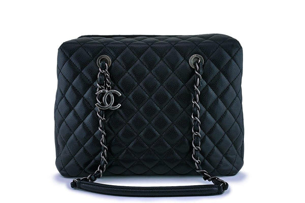 Chanel Black Caviar Classic Quilted Business Tote Bag