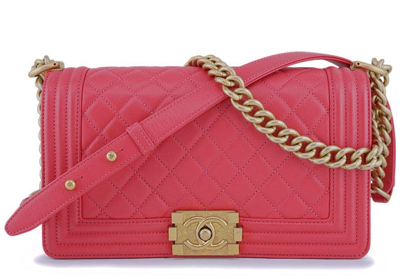 Chanel Pink Caviar Medium Classic Boy Flap Bag GHW