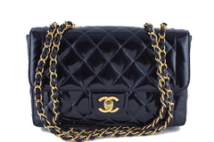 Chanel Black Vintage Patent Classic Medium 2.55 Quilted Flap Bag - Boutique Patina  - 1