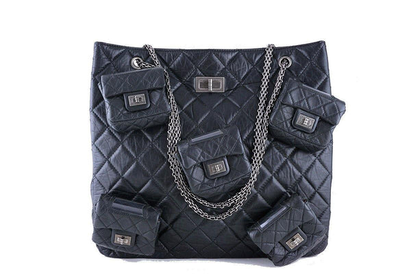 084df0677de0 $8,000 Chanel Black Legendary Runway 5 Pocket Reissue Tote Bag