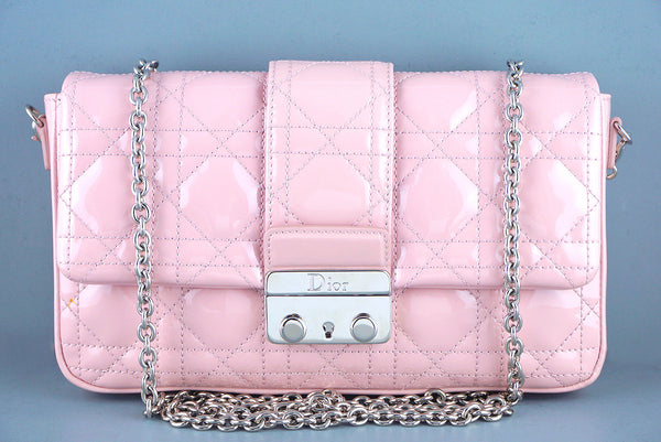 Miss Dior Pink New Lock Promenade Pochette Wallet on Chain WOC Bag