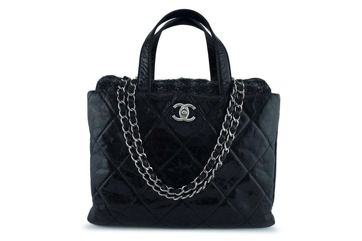 Chanel Black/Tweed Classic Portobello Executive Tote Bag