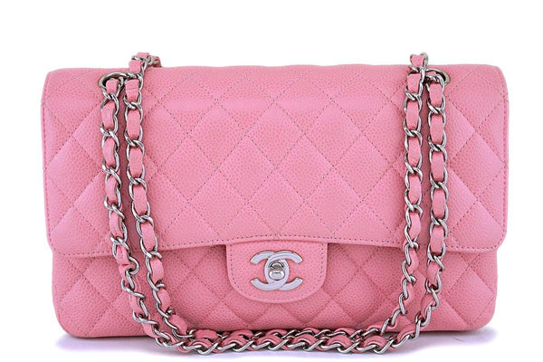 Chanel Pink Caviar Medium Classic Double Flap Bag SHW