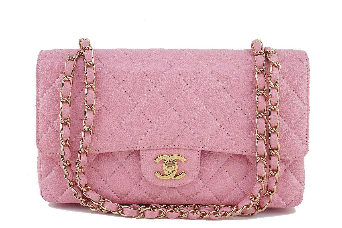 Chanel Pink Caviar Medium Classic 2.55 Double Flap Bag - Boutique Patina  - 1