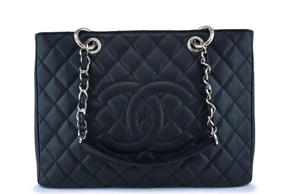 Chanel Black Caviar Classic Shopper GST Tote Bag SHW