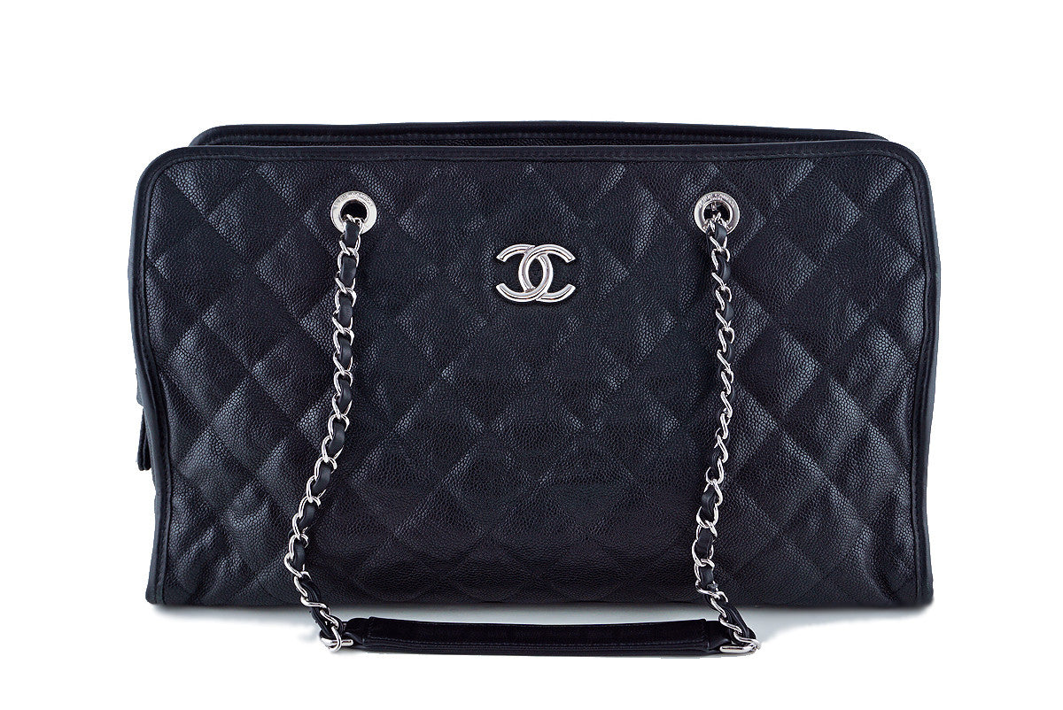 Chanel Black Quilted Caviar Grand CC Classic Shopper Tote GST Bag - Boutique Patina  - 1
