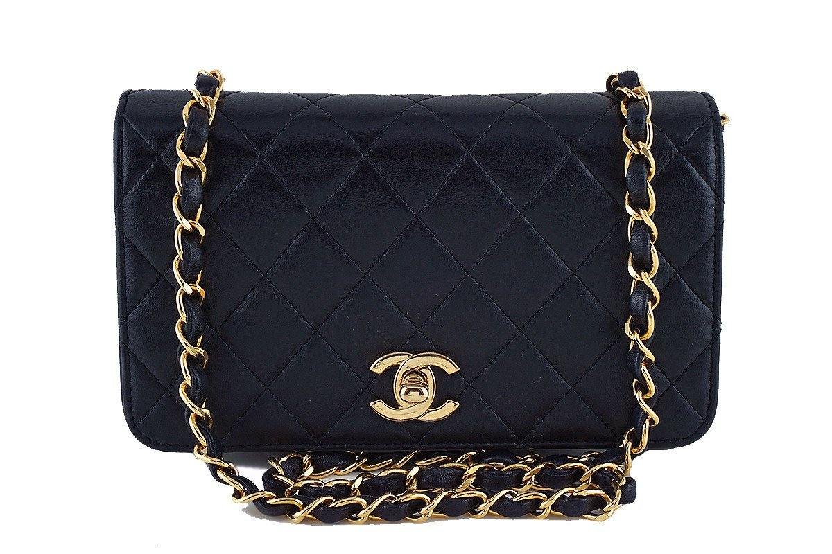 Chanel Vintage Black Timeless Lambskin Classic Flap Bag