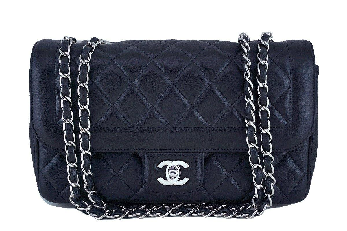 Chanel Black Lambskin Classic Quilted Flap Bag