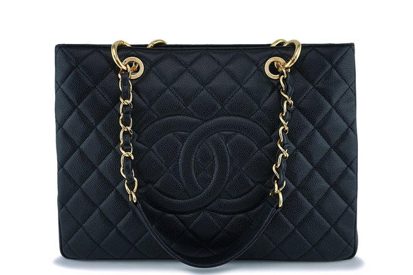 Chanel Black Caviar Classic Grand Shopper Tote GST Bag GHW