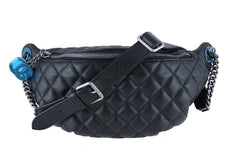 NWT 15A Chanel Black Quilted Classic Fanny Pack Bag