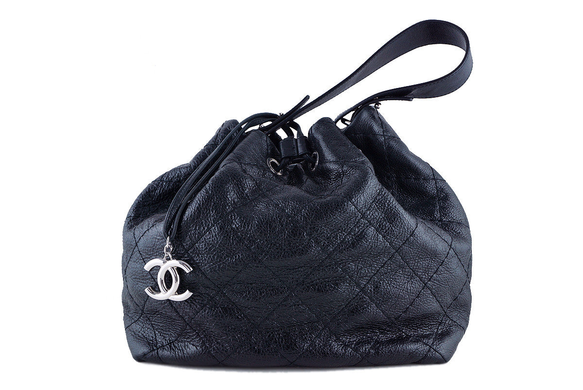 Chanel Black On the Road Large Drawstring Bucket Tote Bag - Boutique Patina  - 1