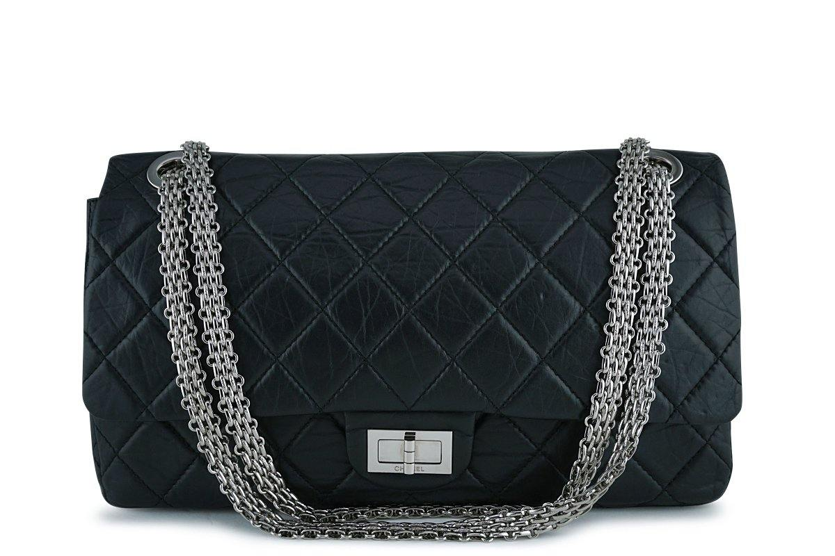Chanel Black Rare Lagerfeld 227 Reissue Classic 2.55 Flap Bag