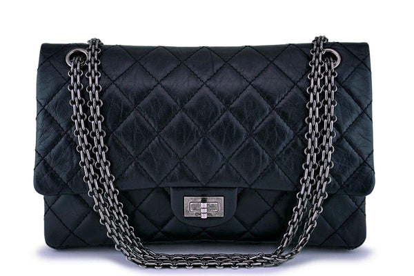 Chanel Black Classic 2.55 Reissue Flap Bag 226 RHW