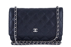 Chanel Black Classic Quilted WOC Wallet on Chain Flap Bag - Boutique Patina  - 1