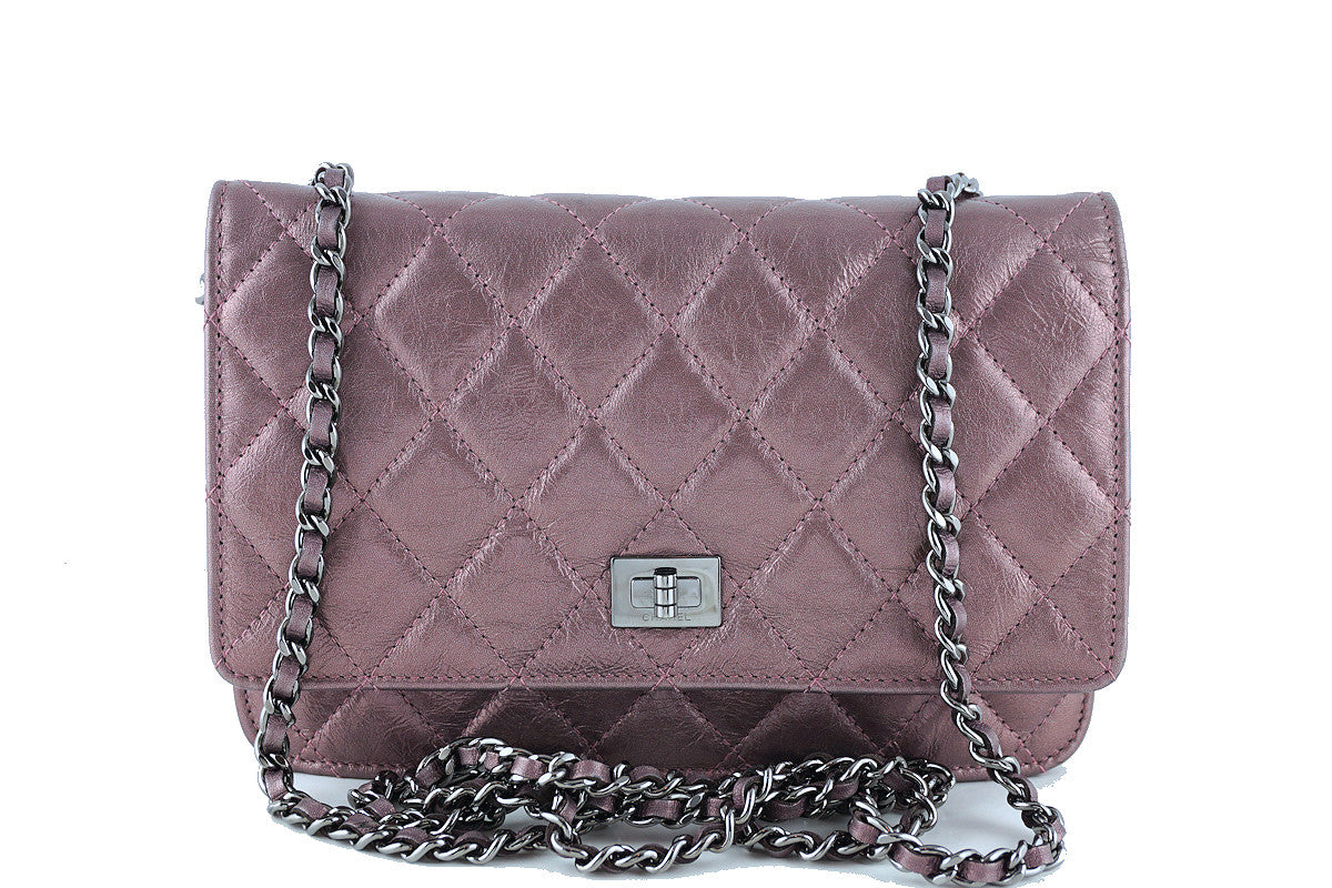 Chanel Metallic Rose Classic Reissue WOC Wallet on Chain Bag - Boutique Patina  - 1
