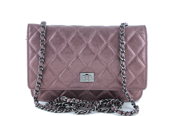 Chanel Metallic Rose Classic Reissue WOC Wallet on Chain Bag