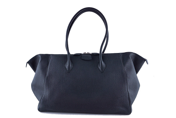 "Hermes Black 37/40cm Paris Bombay Shoulder Tote Bag, ""O"" stamp Togo"