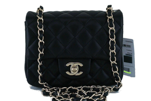 9e03e78d42ba36 NWT Chanel Black Classic Quilted Square Mini 2.55 Flap Bag, GHW