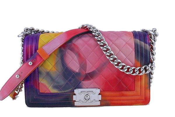 Chanel Flower Power Boy Classic Medium Flap Bag