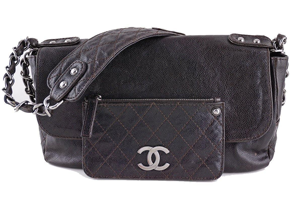 06510a7109544a Chanel Caviar Flap Brown Pocket In the City Bag