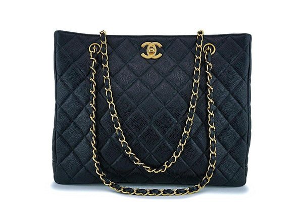 Chanel Black Caviar Timeless Classic Tote Bag 24k GHW