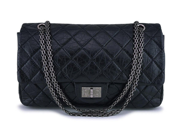 Chanel Black Large Classic Reissue 2.55 227 Jumbo Flap Bag