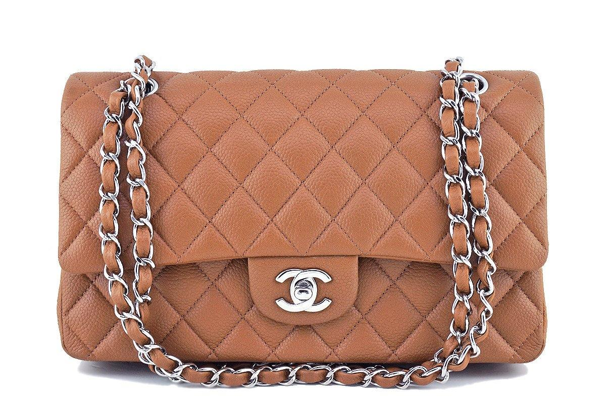 2d10eccf650c Chanel Caramel Beige Caviar Medium Classic 2.55 Double Flap Bag
