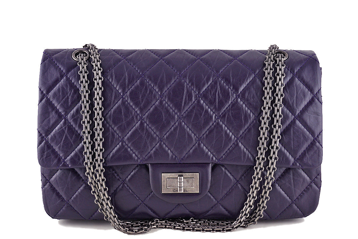 Chanel Reissue 227 Jumbo Flap, Dark Purple 2.55 Classic Bag