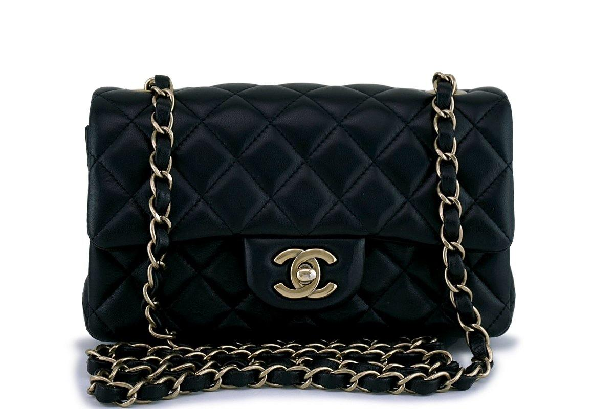 Chanel Black Classic Quilted Rectangular Mini Flap Bag