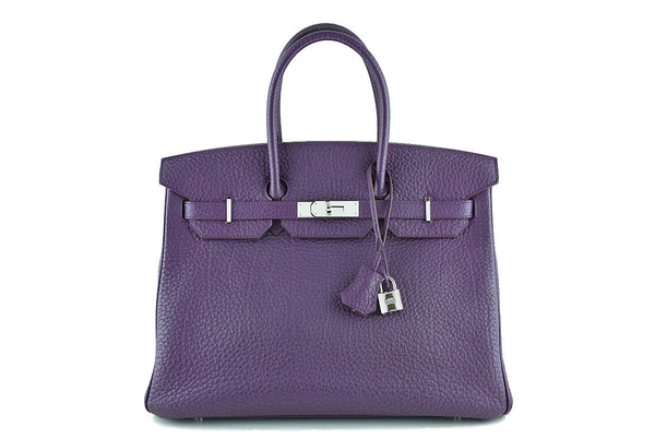 "Hermes Purple 35cm Birkin Bag, Fjord Ultraviolet PHW ""P"" stamp"