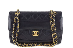 Chanel Black Vintage Quilted Classic 2.55 Flap Bag and Wallet - Boutique Patina  - 1