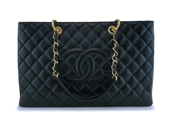 Chanel Black Caviar Grand Shopper Tote XL GST Bag GHW
