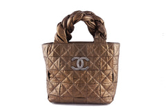 Chanel Bronze Limited Origami Soft Braided Tote Bag - Boutique Patina  - 1