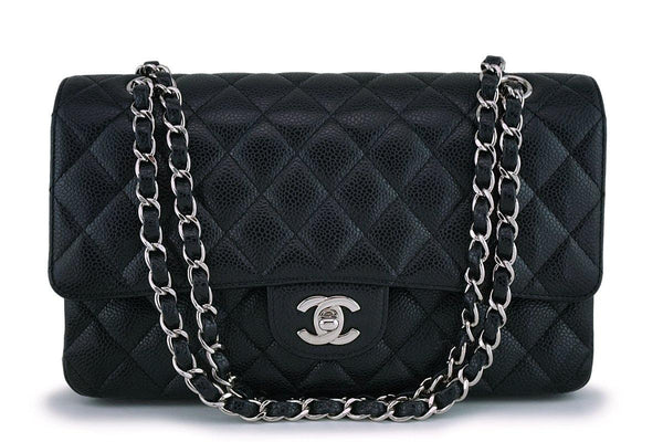 Chanel Black Caviar Medium Classic Double Flap Bag SHW