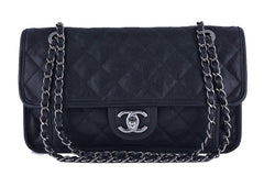 Chanel Black Caviar Classic French Riviera Flap Bag - Boutique Patina  - 1