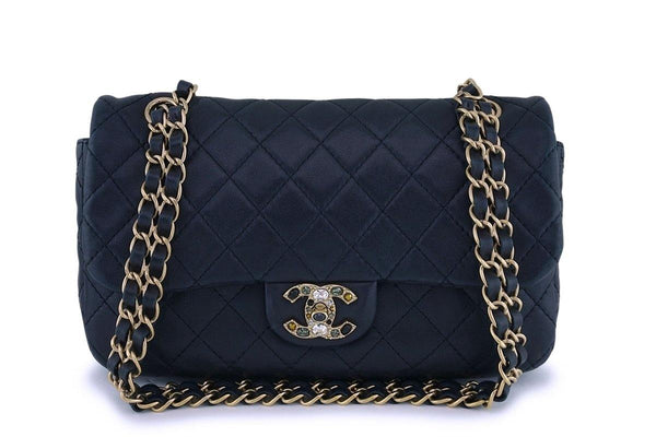 Chanel Black Precious Jewel Limited Classic Flap Bag